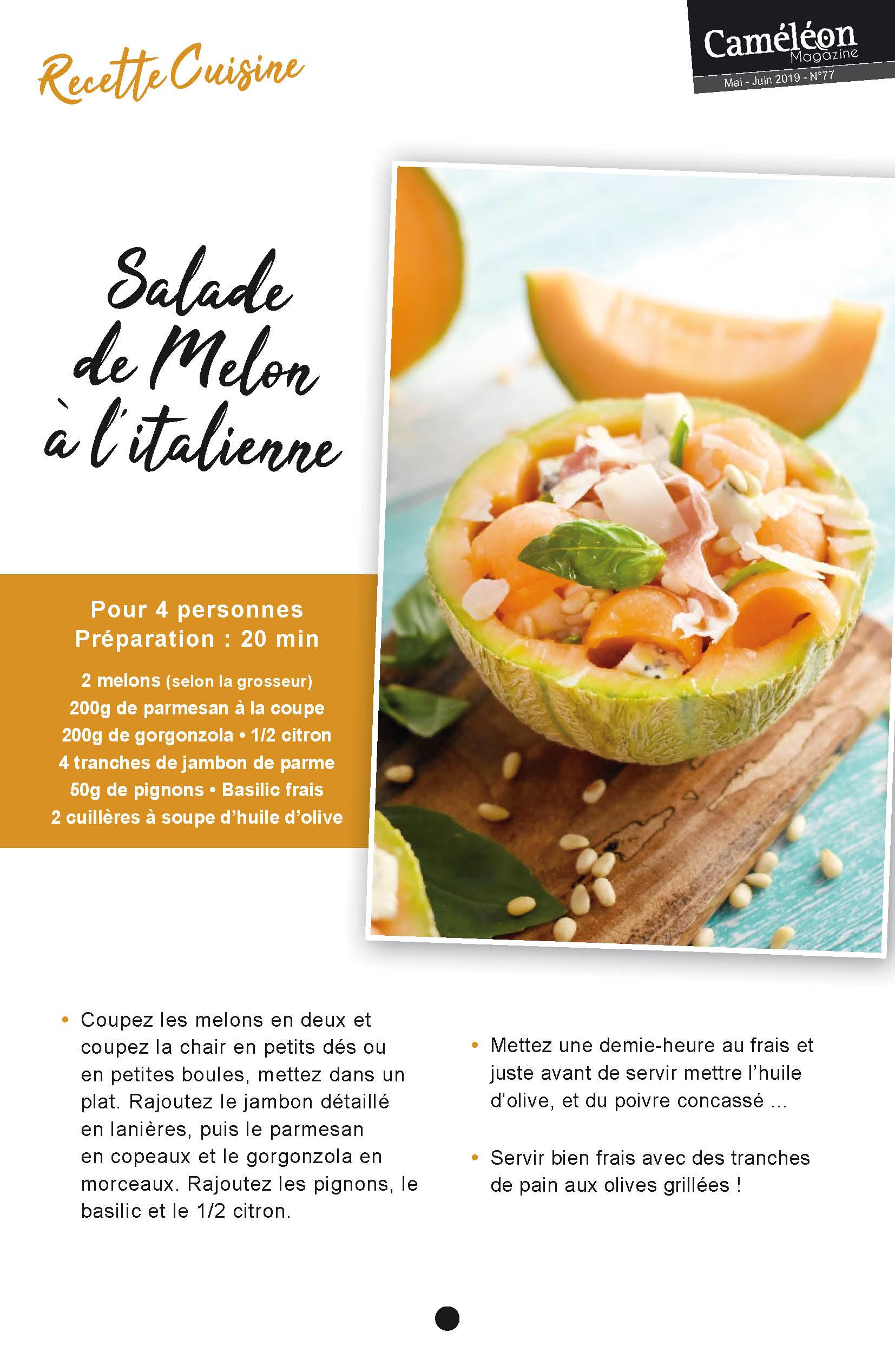 Recette salade melon italienne