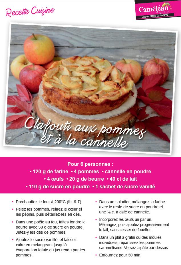 Recette clafouti pommes cannelle